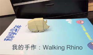 我的手作:Walking Rhino